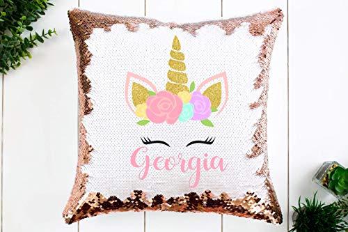 Girl's Custom Sequin Unicorn Pillow | 15