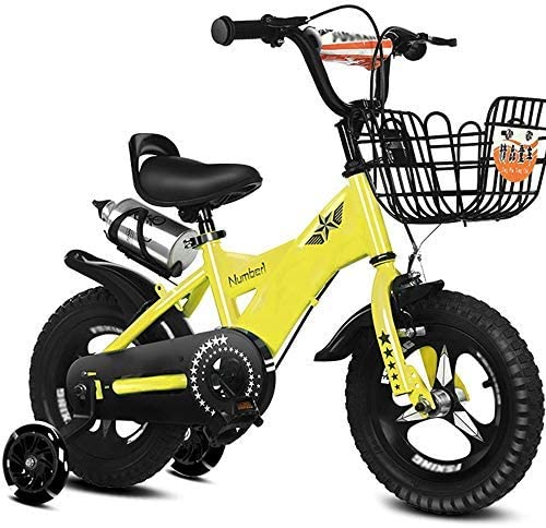 YSA キッズバイク子供用自転車12/14/16/18インチの男の子と女の子のサイクリング、2〜19歳の子供向け青、ピンク、紫