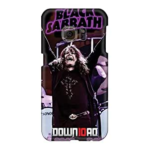 Anti-Scratch Cell-phone Hard Cover For Samsung Galaxy S6 (WRH3114gkpK) Provide Private Custom Vivid Black Sabbath Band Image
