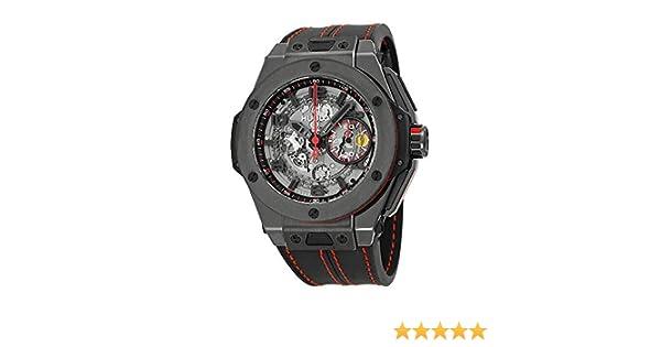 0118207b9 Amazon.com: Hublot Ferrari All Black Automatic Openwork Dial Black Ceramic  Mens Watch 401.CX.0123.VR: Hublot: Watches