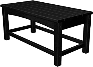 product image for Polywood CLT1836BL Club Coffee Table Black