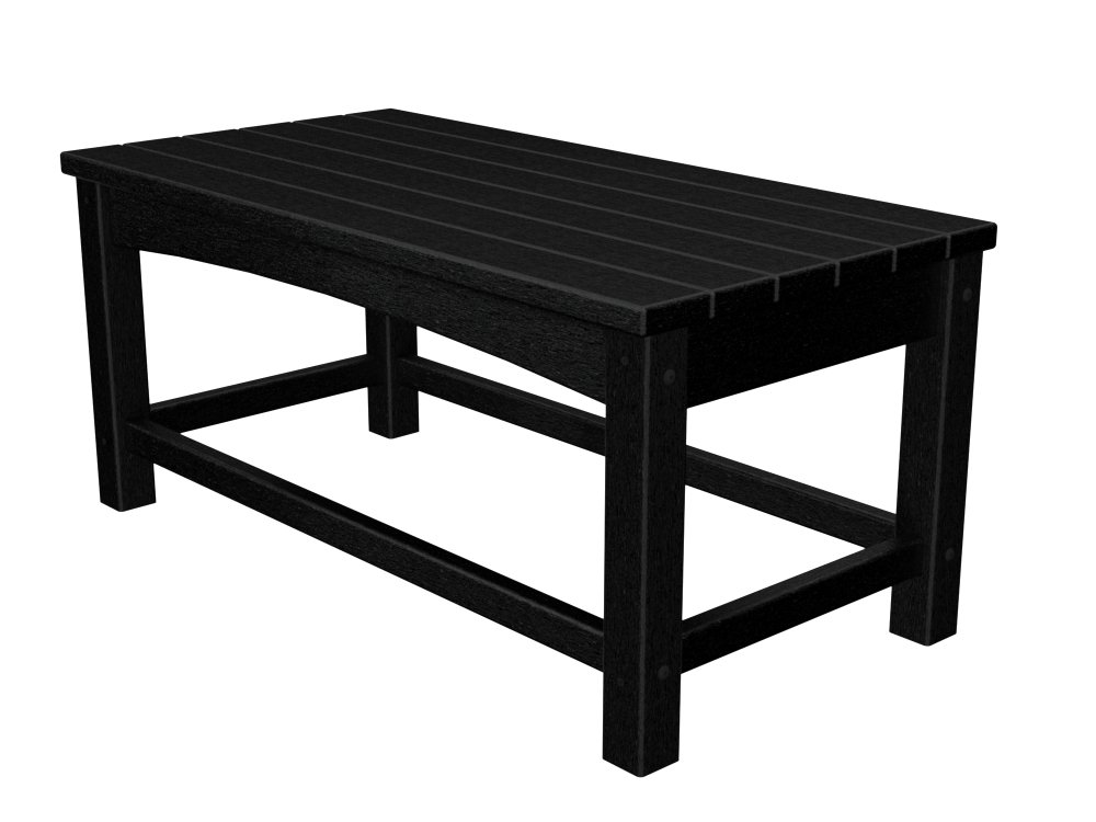 POLYWOOD CLT1836BL Club Coffee Table, Black