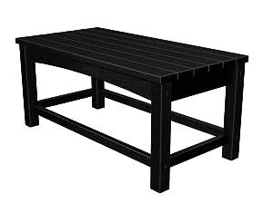 Polywood CLT1836BL Club Coffee Table Black