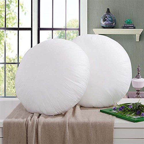 IZO Home Goods Premium Outdoor Anti-mold Water Resistant 18 Inch Diameter Round Decorative Pillow Insert, Sham Stuffer by IZO Home Goods
