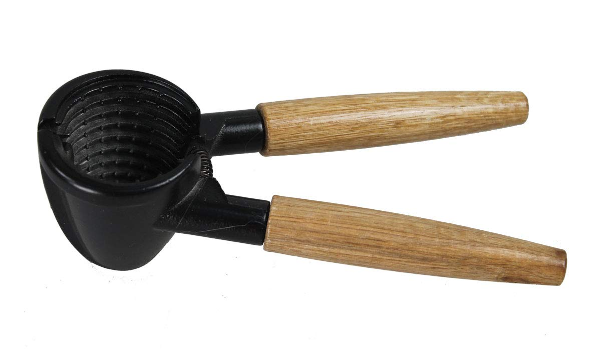 GMMH Nussknacker schwere Qualit/ät 17 cm Holzgriff Eisengusskopf Nusszange Nuss/öffner Nussbrecher