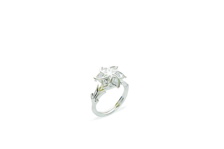 The Hobbit Jewelry - Anillo de plata con circonita