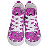 PattyCandy Kids Hi-Top Skate Sneaker Shoes Hip Hop Kitty Cats Style - US 1Y