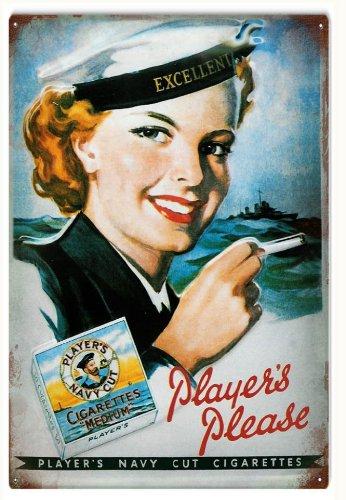 Players Navy Cut Cigarettes Advertisement Sign (Players Navy Cigarettes Cut)
