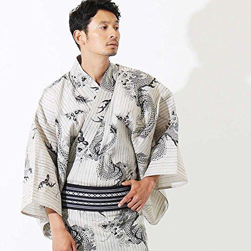 【浴衣+帯+下駄+腰紐】JUNKO KOSHINO高級男性用お仕立て上がり浴衣4点セット(セラドン) B074363Z4R M