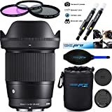 Sigma 16mm f/1.4 DC DN Contemporary Lens for Sony E - Deal-Expo Kit