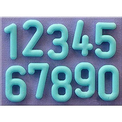 Fenghong Molde De Pastel De Inglés Digital, Letra Y Número De Bricolaje Molde De Silicona