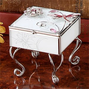 Dragonfly Jewelry Box with legs White Amazoncouk Kitchen Home