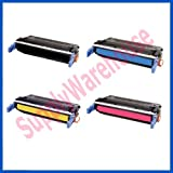 V4INK Compatible Toner Cartridge Replacement for HP C9720A ( 4-Pack )