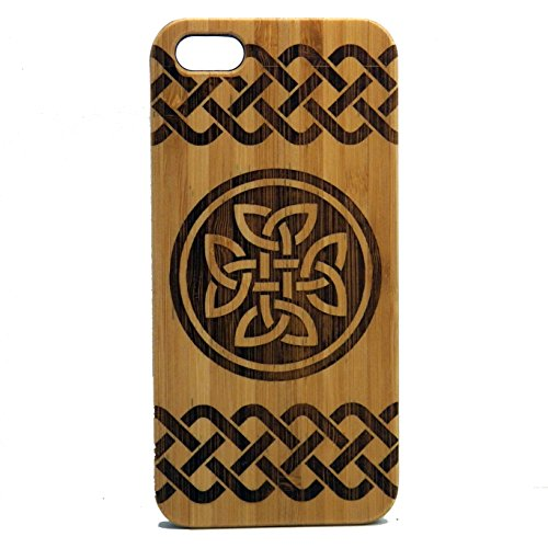 Celtic Knot Case for iPhone 6 or iPhone 6S | iMakeTheCase Eco-Friendly Bamboo Wood Cover | Irish Dara Knot Tattoo St. Patrick's Day
