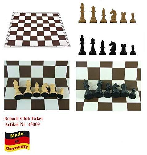 G+K Kunststofftechnik UG Schach Club Paket XXL Profi beige-schwarz mit 8 x Schachbrett + 8 x Schachfiguren KH 93 mm, Staunton Form Nr. 45009