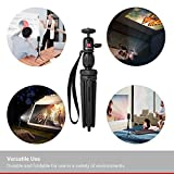 Nebula Capsule Adjustable Tripod Stand, Compact, Lightweight, Aluminum Alloy Portable Projector Stand for Pico Projector, Pocket Projector, and Mini Projector with Universal Mount and Swivel Ball Head