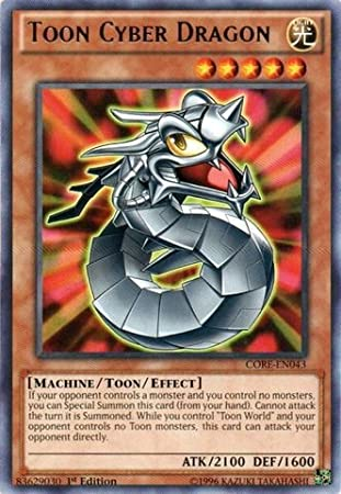 Amazon.com: Yu-Gi-Oh! - Toon Cyber Dragon (CORE-EN043 ...