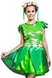 Adult Women Fairy Tinker Bell Costume Cosplay Pixie Girl Role Play Elf Dress Up