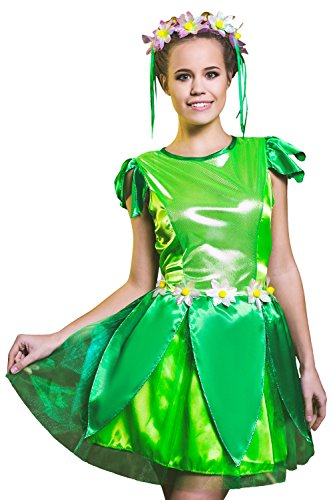 Tinkerbell Costumes Ideas (Adult Women Fairy Tinker Bell Costume Cosplay Pixie Girl Role Play Elf Dress Up (Small/Medium, Green, Lime Green, Pink, Yellow))