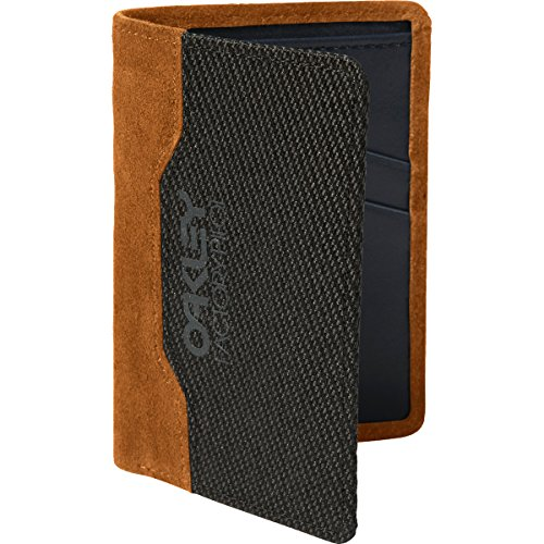 Oakley Mens Factory Pilot Leather Wallet One Size Jet - Wallet Mens Oakley