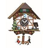 Reloj en miniatura de la selva negra casa de la selva negra, incluye batería