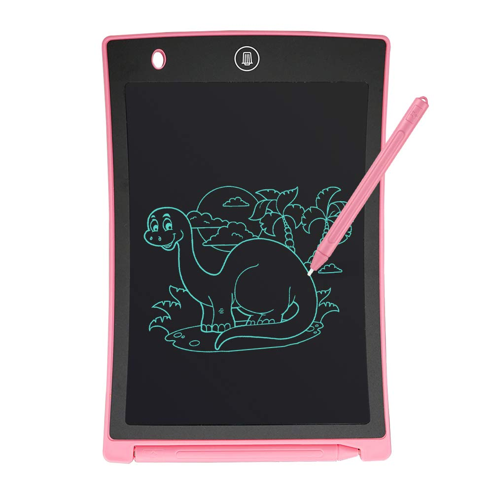 GUYUCOM Electronic Notepad Message Board for Home Office School Use 8.5 Inch LCD Writing Tablet Pink
