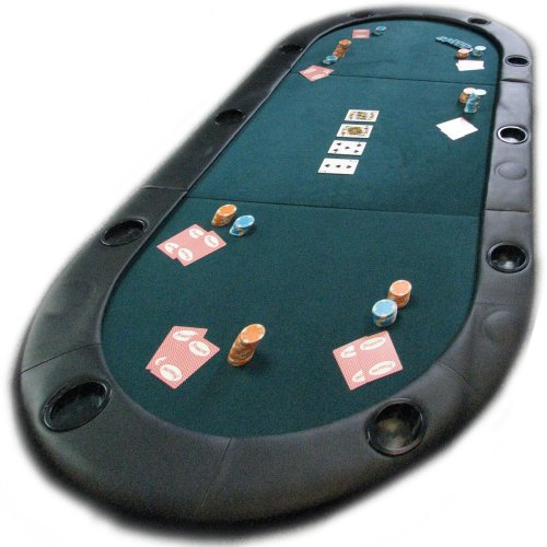 Deluxe 78 Inch Texas Holdem Padded Poker Table Top with Cup Holders! by TMG