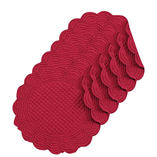Quilted Placemat Set - Burgundy 17