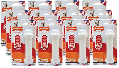 Nylabone 12 Pack of Dura Chew Power Chews, Regular, Chicken Flavor Dog Chew Toy