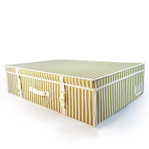 - HANGERWORLD Large Ivory Gold Wedding Dress Bridal Gown Garment Storage Box and Travel Carry Case