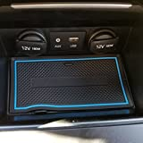 hyundai elantra custom - Custom Fit Cup Holder and Door Compartment Liner Accessories for 2017 2018 Hyundai Elantra 18-pc Set (Blue Trim)