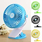 Mini Usb Powered Clip Desk Baby Stroller Fan Compact Fashion Appearance, Unique And Stylish Besides You When Yous Working, Studying, Sleeping, Or More.