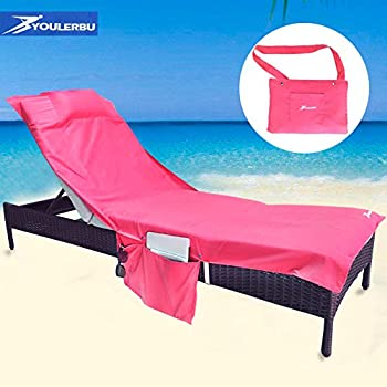 Pool Lounge Cover Towel For Outdoor Adjustable Chaise Lounge Chair, Beach,  Sunbathing, Hotel