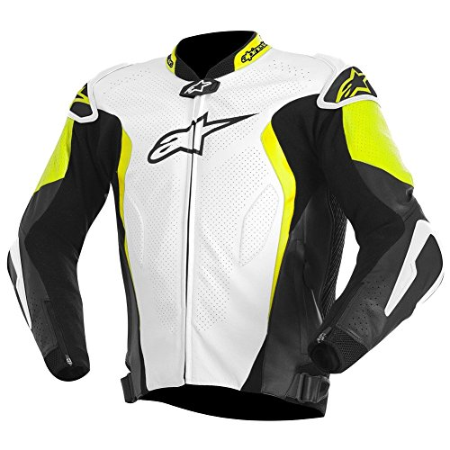 Alpinestars GP Tech Leather Jacket (WHITE/BLACK/YELLOW)