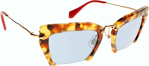 5fde1f1bfdce Image Unavailable. Image not available for. Color  Miu Miu W-SG-3120 MU  10QS UA54N0-Sand Medium Havana Womens Sunglasses