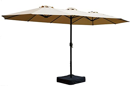 Kozyard Butterfly 14' Outdoor Patio Double-Sided Aluminum Umbrella