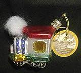 Train with Smoke Inge Glas German Glass Christmas Ornament