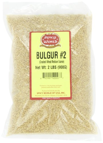 Spicy World Bulgur Cracked Wheat Medium #2, 2-Pound Bags (Pack of 6)