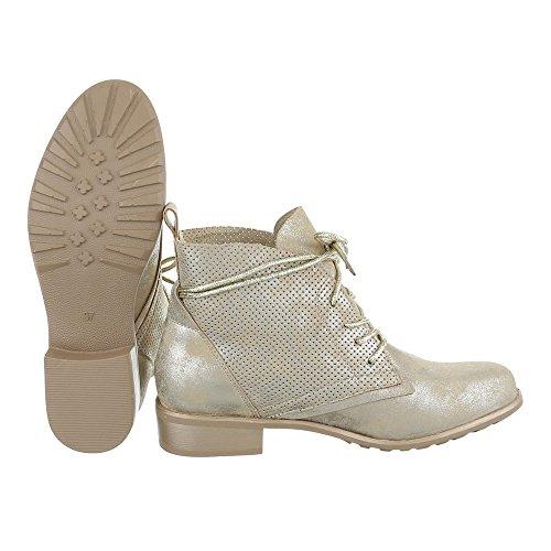 Ital Mujer Design Militar dorado Botas OwxaO