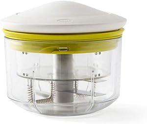 Chef'n VeggiChop Hand-Powered Food Chopper, Portable, White