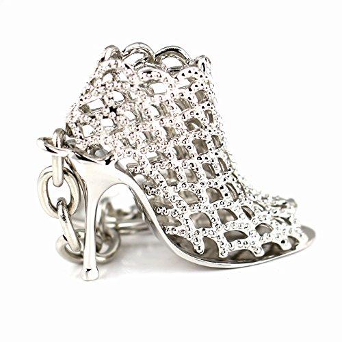 Yosoo Silver Crystal Rhinestone Keychain