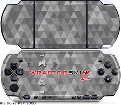 Sony PSP 3000 Decal Style Skin - Triangle Mosaic Gray