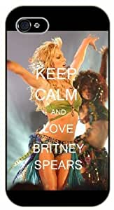 iPhone 4 / 4S Keep calm and love Britney Spears - black plastic case / Keep calm