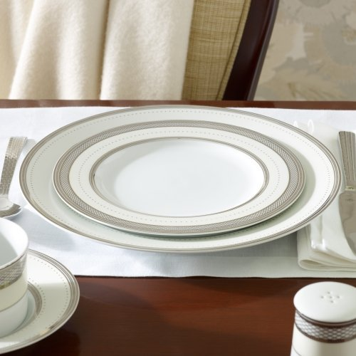 (Ralph Lauren Silk Ribbon Pearl Salad Plate)