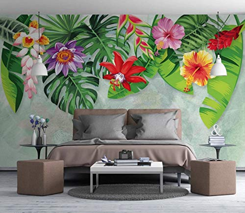 3D Murals Stickers Wall Decorations Wallpaper Banana Leaf Garden Living Room Background Modern Art Kids Kitchen (W)200x(H)140cm from VVBIHUAING
