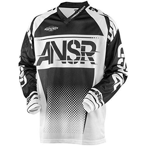 (Answer Racing A17.5 Syncron Air Men's Off-Road Motorcycle Jerseys - Black/White/Large)