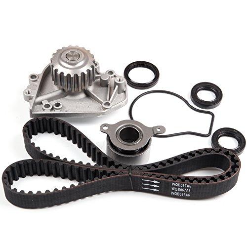(ECCPP Timing Belt W/Water Pump Kit For 1990-1993 ACURA INTEGRA GS LS RS 1.8L L4 DOHC B18A)