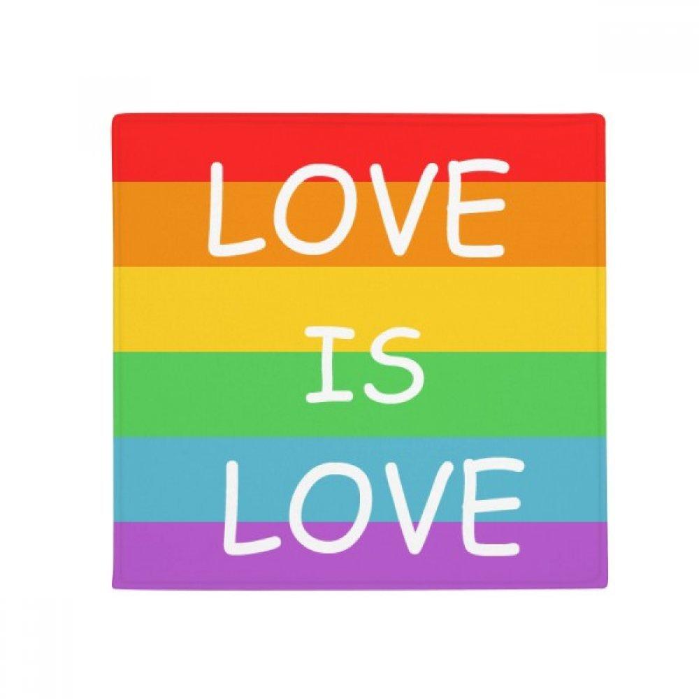 DIYthinker Rainbow Gay Lesbian Transgender LGBT Anti-Slip Floor Pet Mat Square Home Kitchen Door 80Cm Gift