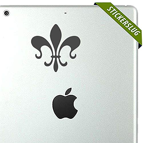 Fleur De Lis Decal Sticker (Charcoal, 5 inch Reversed) for Kids Home Walls b11268 Charcoal Fleur De Lis