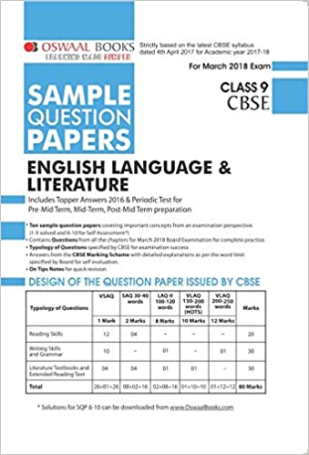 Oswaal cbse sample question papers class 9 english language oswaal cbse sample question papers class 9 english language literature amazon panel of experts books malvernweather Images